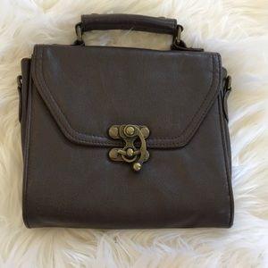 Square Handbag with Turnlock